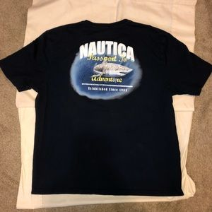 Sweet Nautica bright shark graphic T-shirt